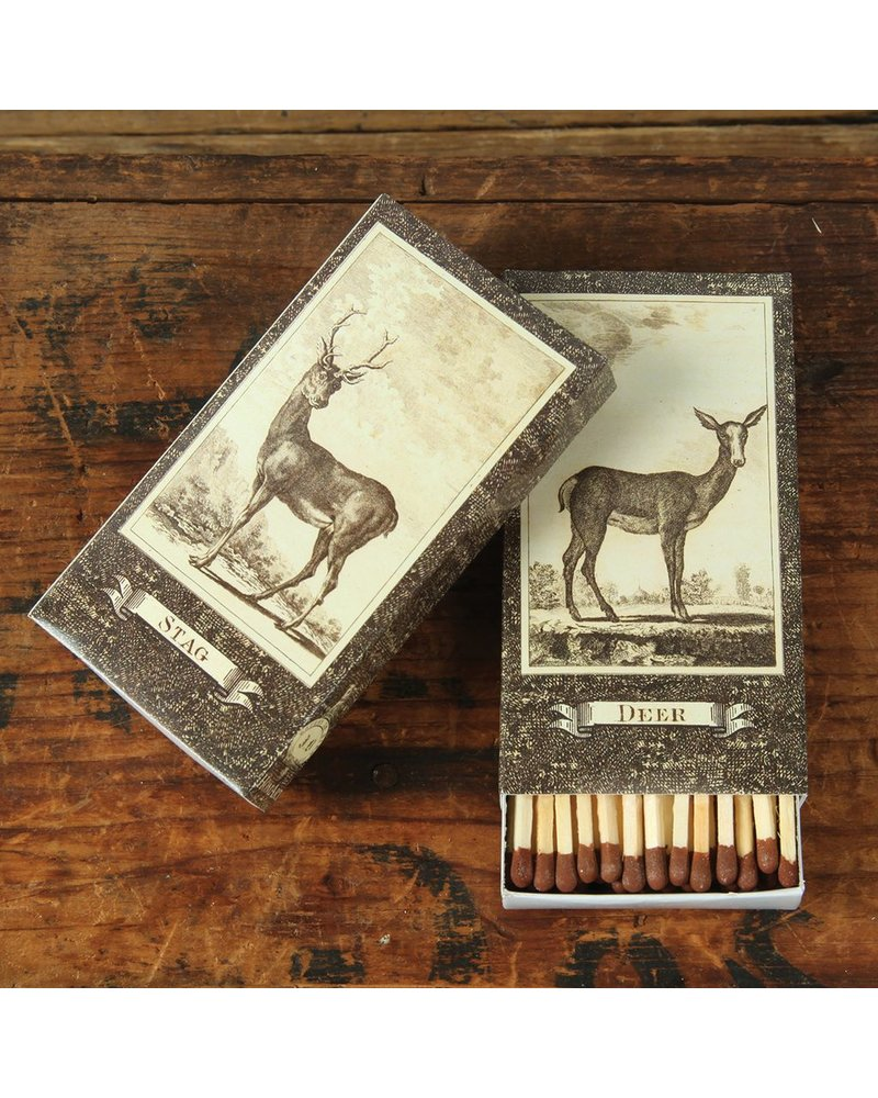 HomArt Stag-Deer HomArt Matches - Set of 3 Boxes