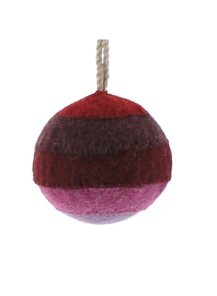 HomArt Felt Patchwork Ball Ornament  Red