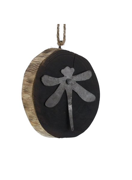 HomArt Wood Slice Ornament - Dragonfly