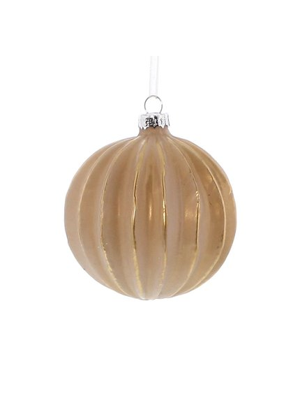 HomArt Glass Sphere, Matte Rose & Gold Ornament