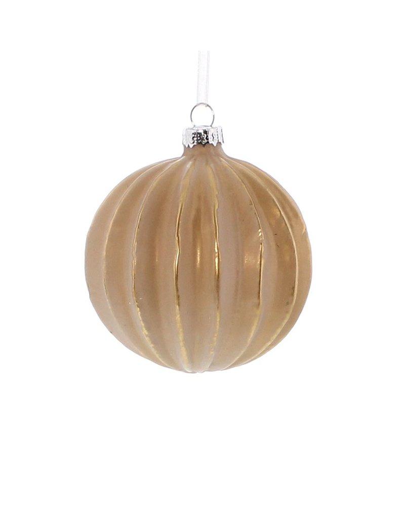 HomArt Glass Sphere, Matte Rose & Gold Ornament