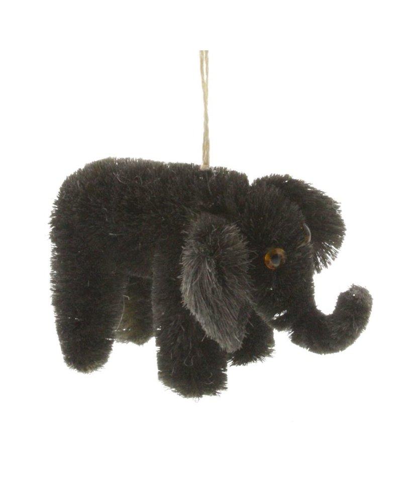 HomArt Elephant Bottle Brush Ornament