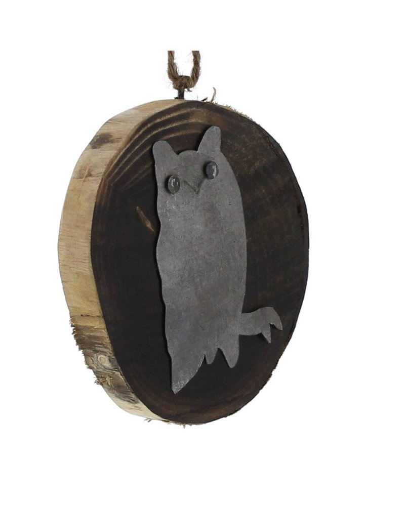 HomArt Wood Slice Ornament - Owl