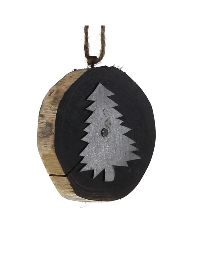 HomArt Wood Slice Ornament - Forest Tree