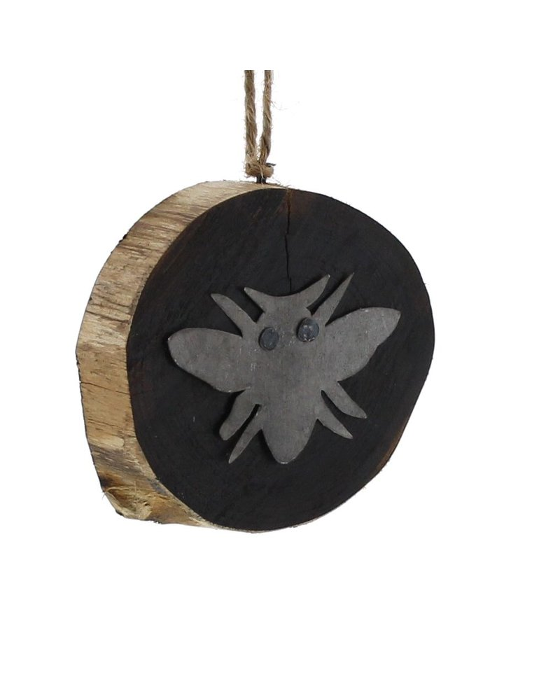 HomArt Wood Slice Ornament - Bee