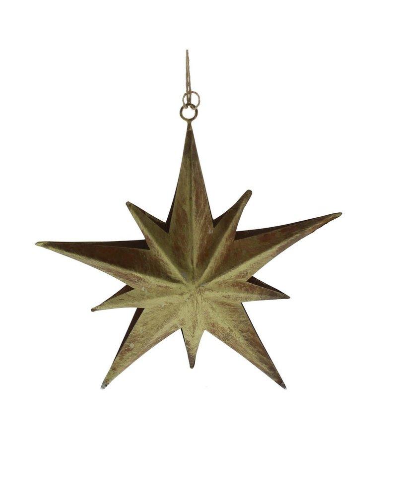 HomArt Northern Star Metal Ornament - Lrg-Antique Gold