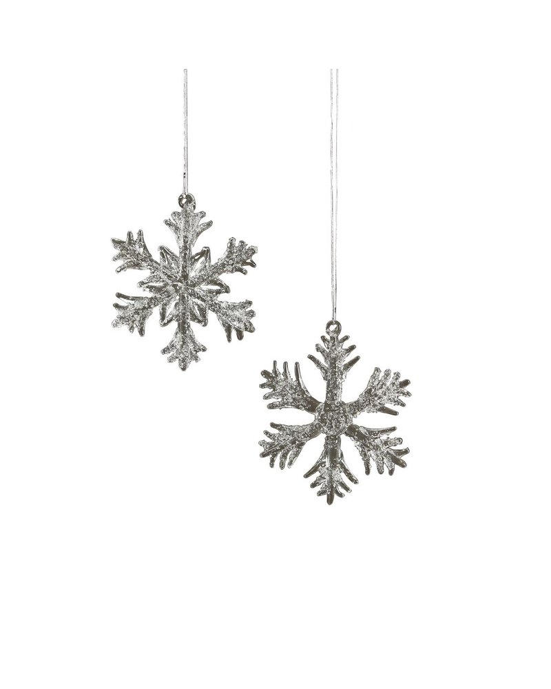 HomArt Glass Snowflakes Ornament Sm, Set of 2 - Assorted