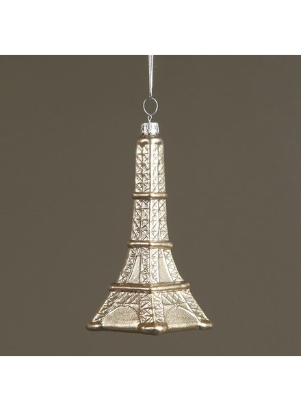 HomArt Eiffel Tower Glass Ornament
