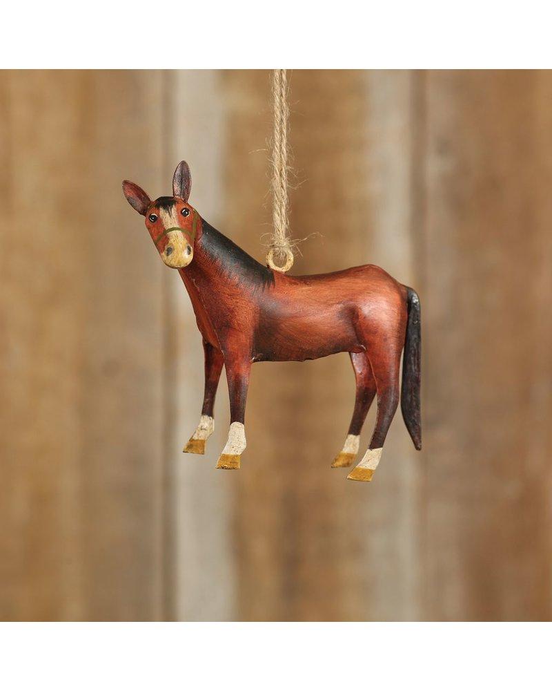 HomArt Hand-Painted Farm Animal Horse Ornament