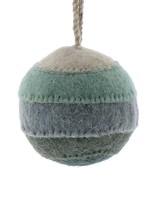 HomArt Felt Patchwork Ball Ornament  Blue
