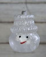 HomArt Snowman Head Glass Ornament
