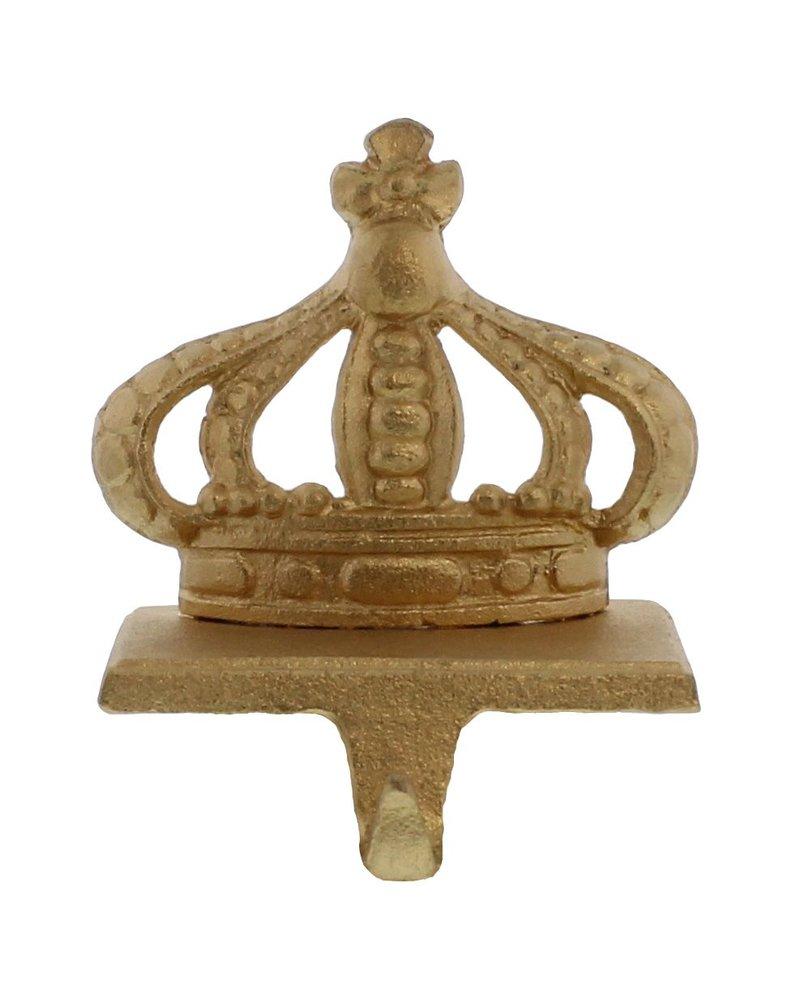 HomArt Gold Cast Iron King Crown Stocking Holder