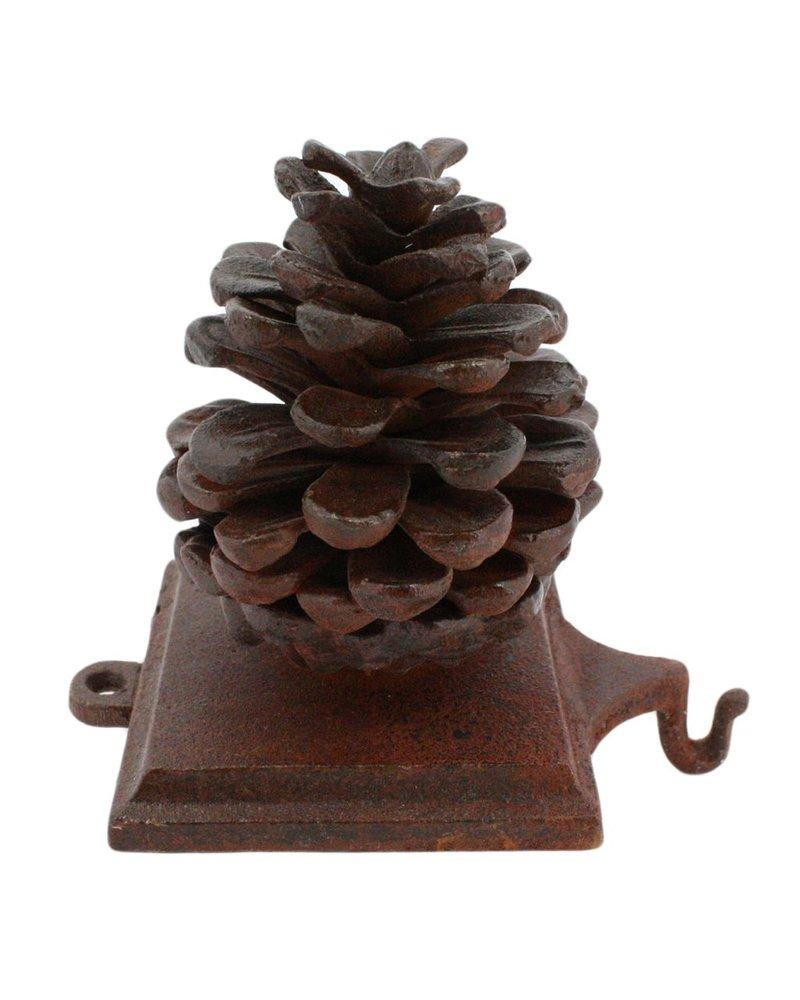 HomArt Stocking Holder Pinecone - Cast Iron Rust