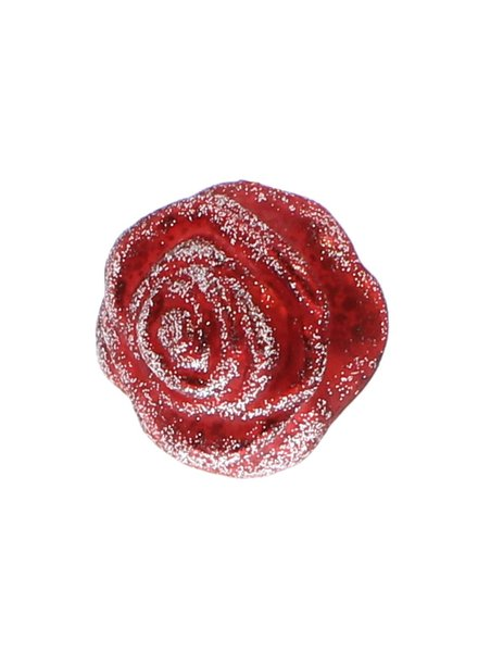 HomArt Belle's Glass Rose - Red Glitter