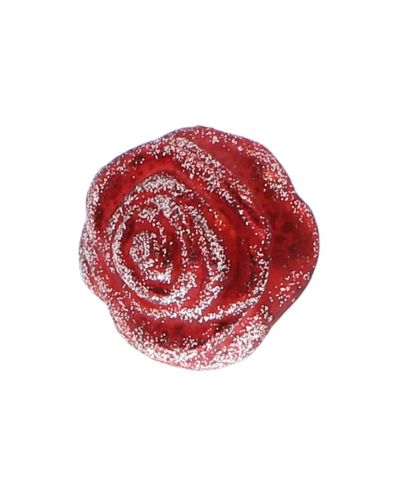 HomArt Belle's Glass Rose - Red Glitter