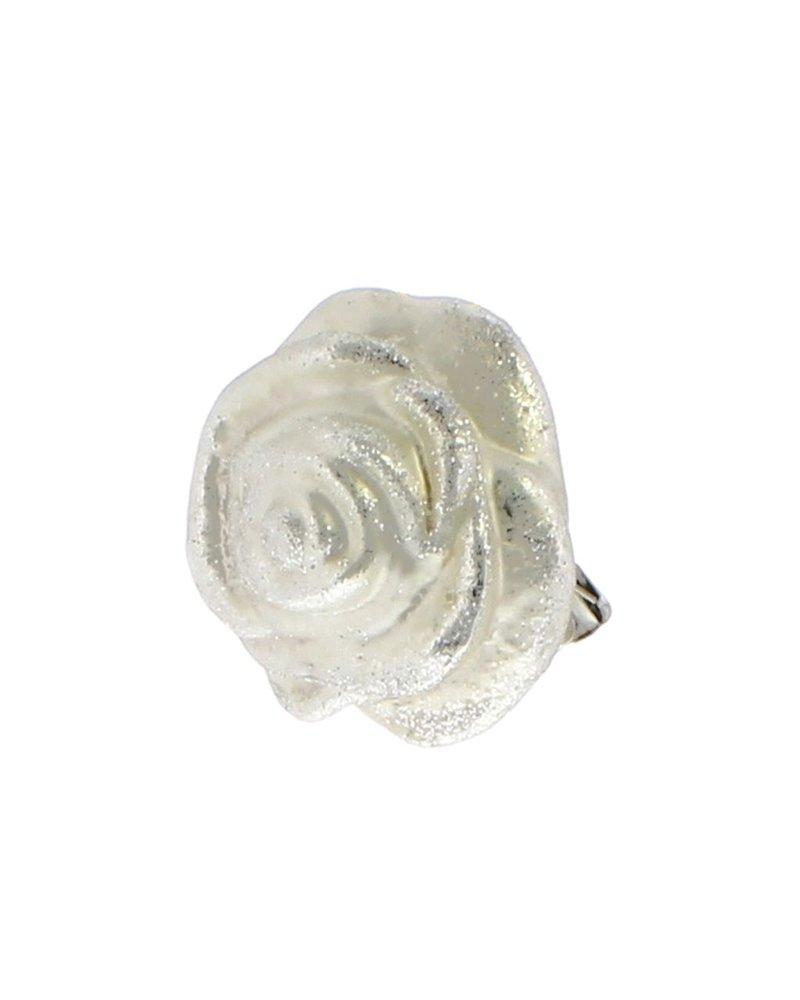 HomArt Belle's Glass Rose - Silver Glitter