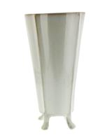 HomArt Rue Footed Ceramic Vase - Lrg-Fancy White