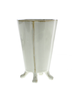 HomArt Rue Footed Ceramic Vase - Med- Fancy White