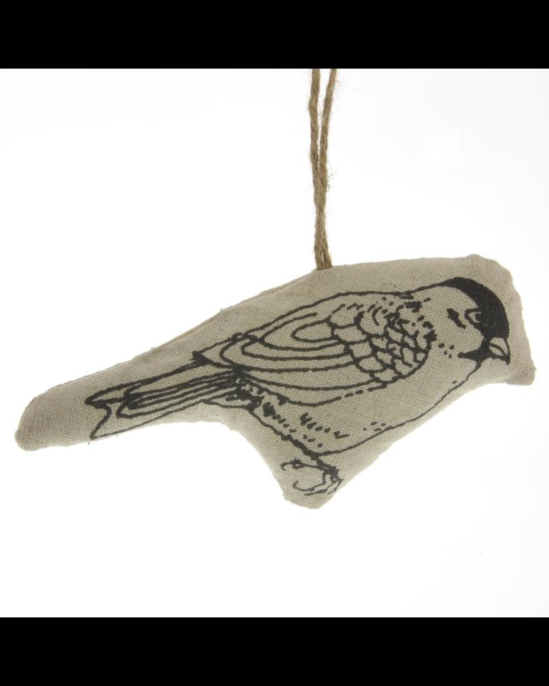 HomArt Linen Stamped Ornament - Bird