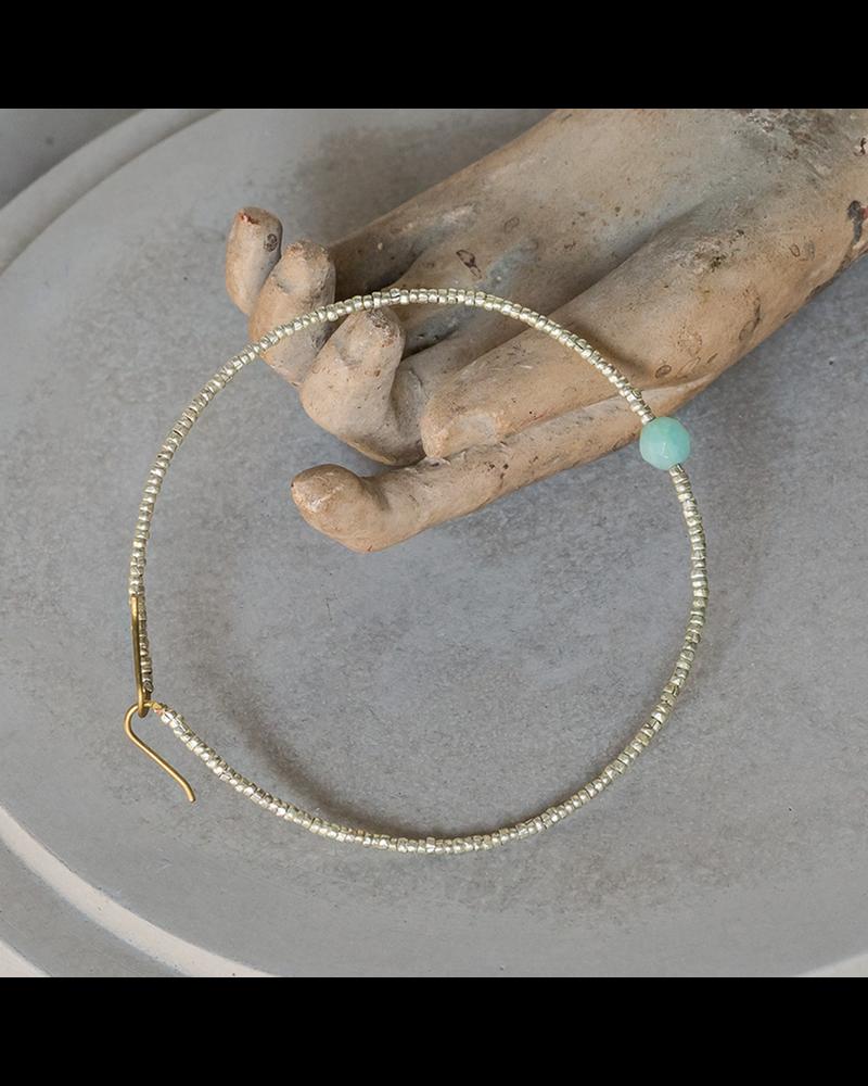 HomArt Astrid Beaded Bracelet - Amazonite