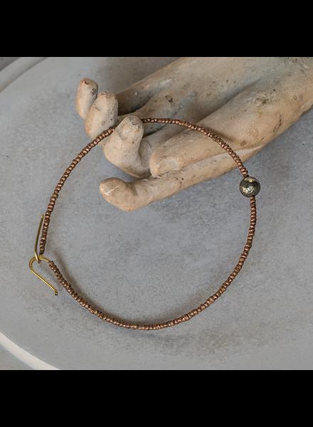 OraTen Astrid Beaded Bracelet - Pyrite