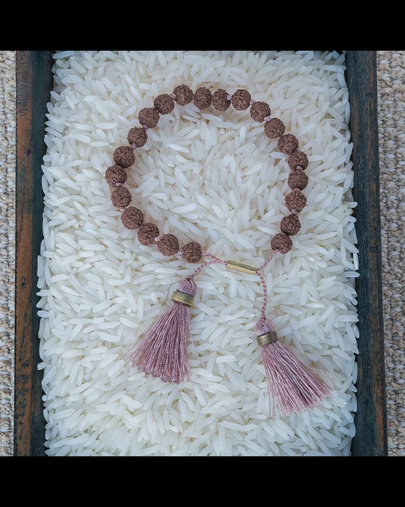 OraTen Mala and Tassel Bracelet - Pink