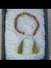 OraTen Mala and Tassel Bracelet - Chartreuse
