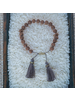 OraTen Mala and Tassel Bracelet - Grey
