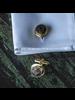 OraTen Brass Cuff Link - Round, Pair of 2 - Matte Black