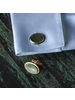 HomArt Brass Cuff Link - Oval, Pair of 2 - Mother of Pearl