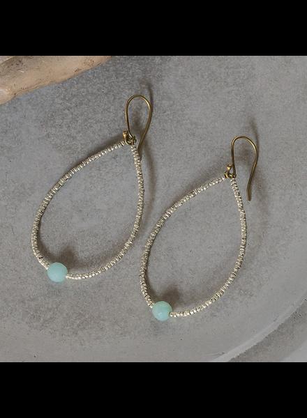 OraTen Astrid Beaded Earrings - Amazonite