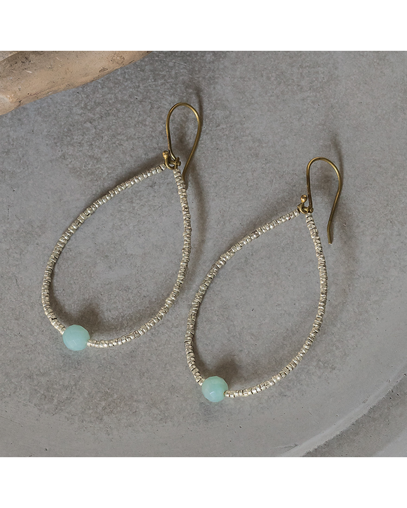 OraTen Astrid Beaded Earrings - Amazonite