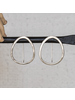 HomArt Cadence Silver Earrings, Oval - Sm