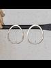 OraTen Cadence Silver Earrings, Oval - Sm