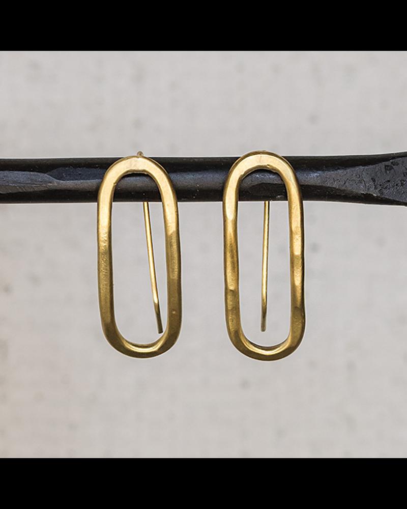 HomArt Cadence Brass Earrings, Capsule - Sm
