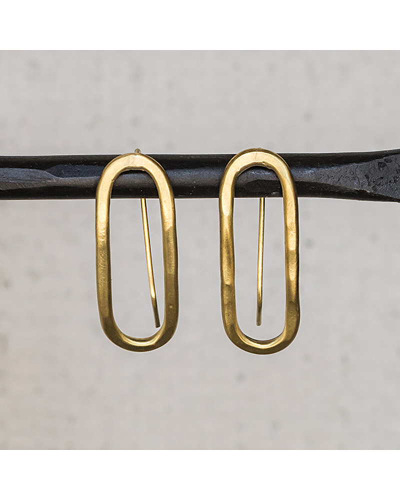 OraTen Cadence Brass Earrings, Capsule - Sm