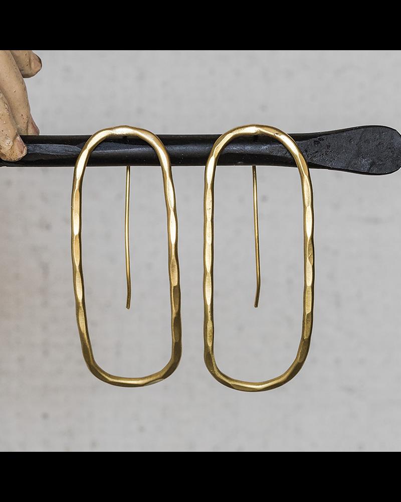 HomArt Cadence Brass Earrings, Capsule - Lrg