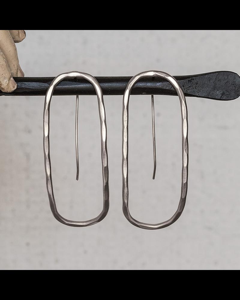 OraTen Cadence Silver Earrings, Capsule - Lrg