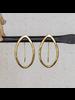 HomArt Cadence Brass Earrings, Bi-Convex - Sm