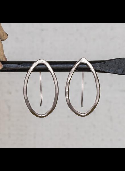 HomArt Cadence Silver Earrings, Bi-Convex - Sm