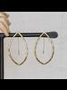 HomArt Cadence Brass Earrings, Bi-Convex - Lrg