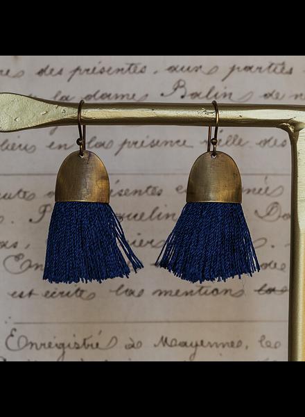OraTen Tassel Earring - Cap - Navy
