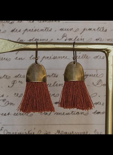 OraTen Tassel Earring - Cap - Orange