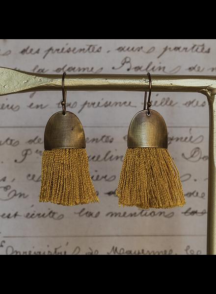 OraTen Tassel Earring - Cap - Ochre