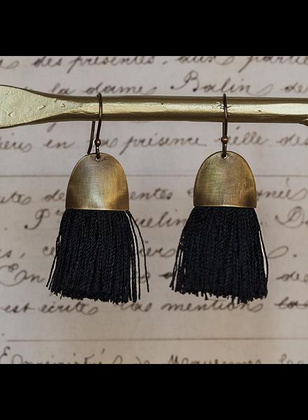 OraTen Tassel Earring - Cap - Black