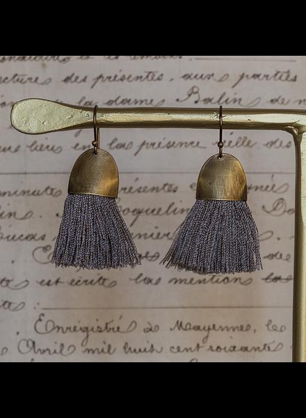 OraTen Tassel Earring - Cap - Grey