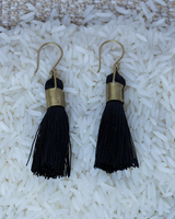 HomArt Tassel Earring - Cuff - Black