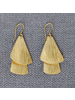 HomArt Brass Double Gingko Earrings