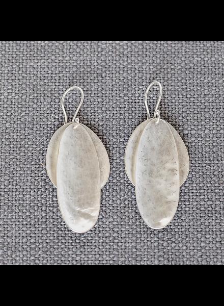HomArt Silver Double Pod Earrings