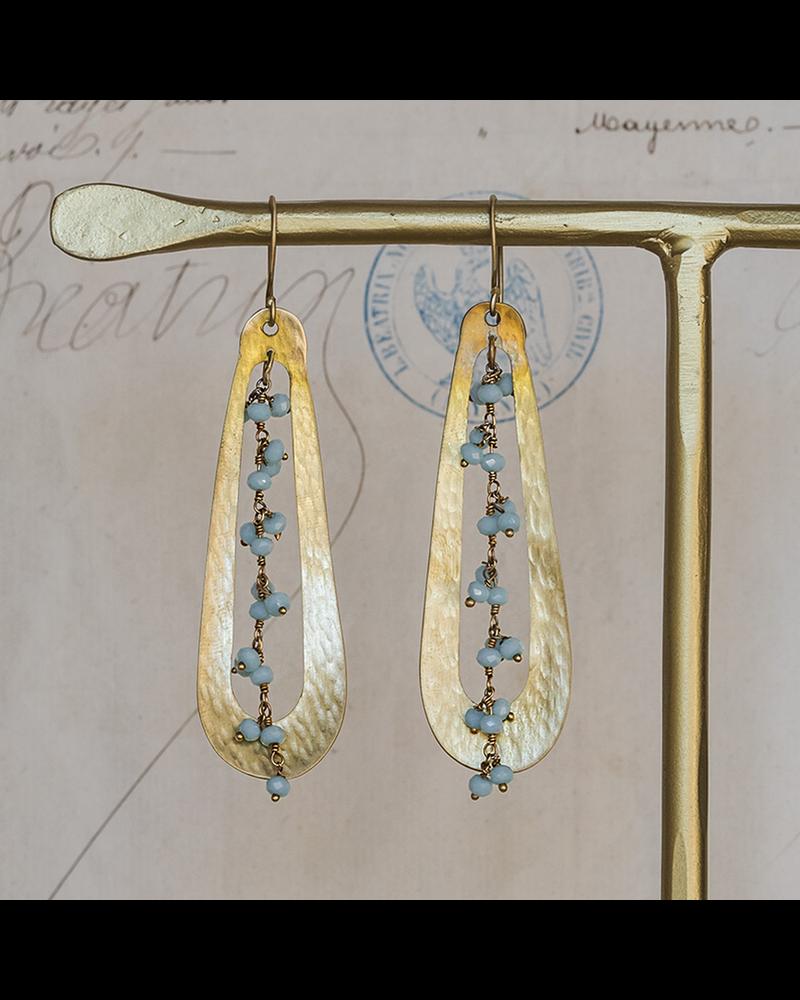 OraTen Iota Earrings - Amazonite
